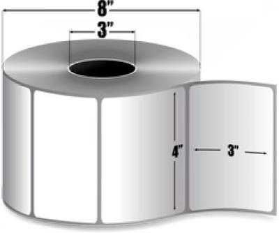 "Zebra 10000302 Label Paper (4"" x 3"") (3"" Core)"
