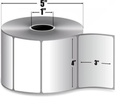 "Zebra 10005852 Label Paper (4"" x 3"") (1"" Core)"
