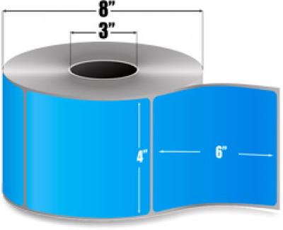"Zebra 10006208 Blue Label Paper (4"" x 6"") (3"" Core)"