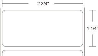 "Zebra 10008513 Label Polyester (2.75"" x 1.25"") (3"" Core)"