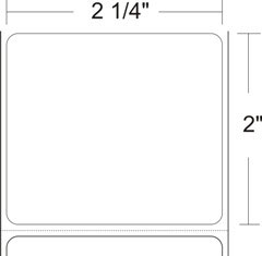 "Zebra 10009525 Label Paper (2.25"" x 2"") (1"" Core)"
