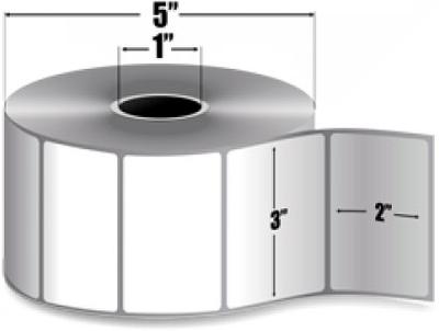"Zebra 10009529 Label Paper (3"" x 2"") (1"" Core)"