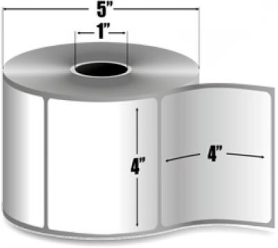 "Zebra 10010033 Label Paper (4"" x 4"") (1"" Core)"