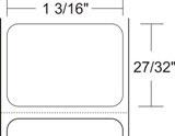 "Zebra 10010037 Label Paper (1.2"" x 0.85"") (1"" Core)"