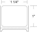 "Zebra 10010038 Label Paper (1.25"" x 1"") (1"" Core)"