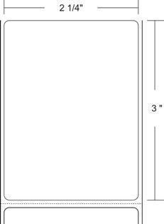 "Zebra 10010042 Label Paper (2.25"" x 3"") (1"" Core)"