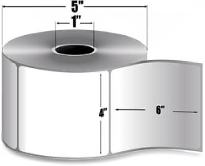 "Zebra 10010049 Label Paper (4"" x 6"") (1"" Core)"