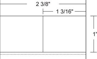 "Zebra 10010050 Label Paper (2.375"" x 1"") (1"" Core)"