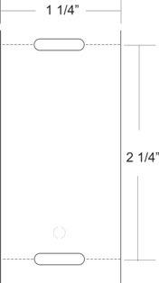 "Zebra 10010053 7.5 mil Tag Paper (1.25"" x 2.25"") (1"" Core)"