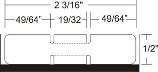 "Zebra 10010062 Label Polypro (2.2"" x 0.5"") (1"" Core)"