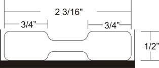 "Zebra 10010064 Butterfly Label No Flaps Polypro (2.2"" x 0.5"") (1"" Core)"