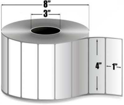 "Zebra 10010244 Label Paper (4"" x 1"") (3"" Core)"