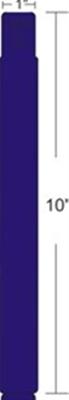"Zebra 10012712-3 Blue Wristband Polypropylene Blue (1"" x 10"") (1"" Core)"